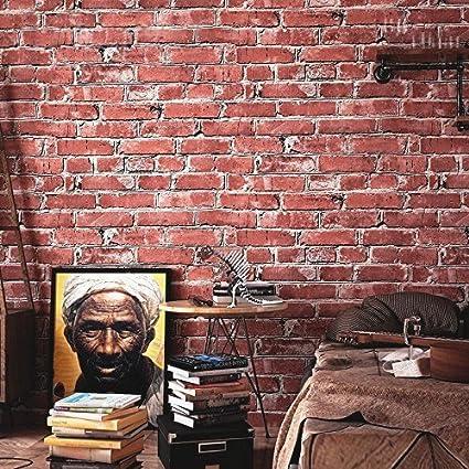 Amazon.com: Blooming Wall Modern Faux Brick Stone Wallpaper 3d Brick ...