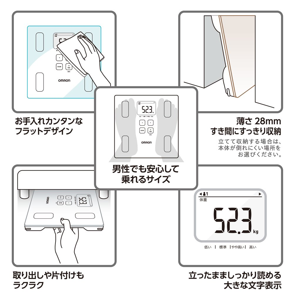 Amazon.com: Omron KARADA Scan Body Composition & Scale | HBF-214-W (Japanese Import): Health & Personal Care
