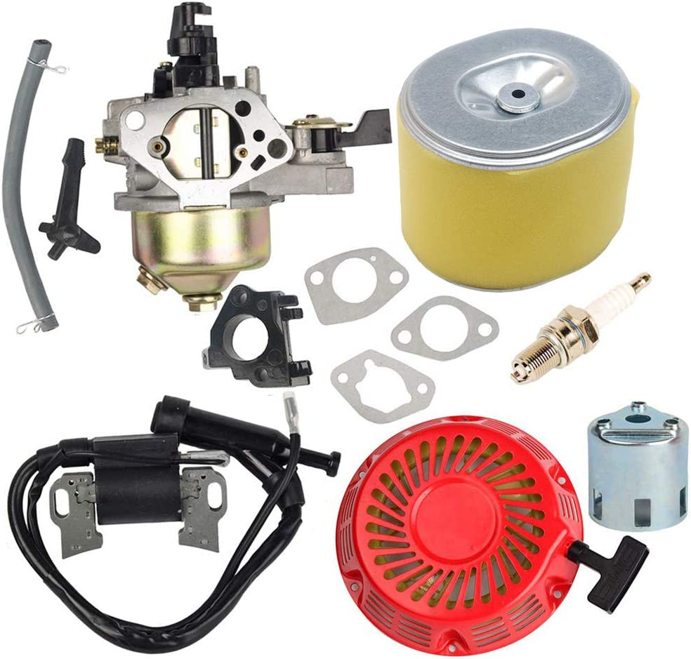 HIFROM Carburetor Carb Kit with Air Filter Ignition Coil Recoil Starter Replacement for Honda Gx340 Gx390 11HP 13HP Engine Replace 16100-ZF6-V01