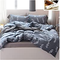 Sheet Quilt Cover, Simple Style, Dark Gray, Cotton, Non-Slip, Single Double Bed, Three-Piece Set, Double-Sided Sheets, Pillow Cover, Quilt Cover
