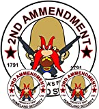 Yosemite Sam Second Amendment Sticker Pack Includes