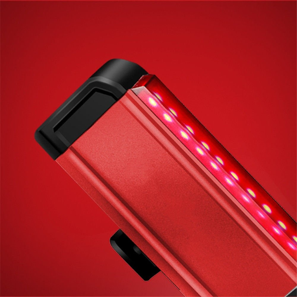 Amadoierly Luz de Bicicleta Bicicleta de Montaña Luz Trasera Bicicleta de Carretera USB LED Luces de Advertencia Accesorios de Equipo de Noche, Rojo