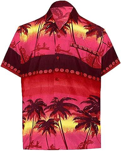 YEBIRAL Polos Manga Corta, Camisetas Hombre Basicas Polo con Botones Suelto Hawaiana Camisas Blusa T-Shirts Tops(M, Rojo): Amazon.es: Ropa y accesorios