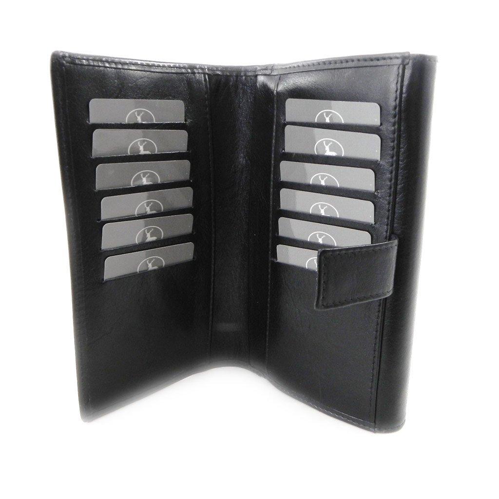 Wallet + checkbook holder leather 'Frandi' ecological york black. by Frandi (Image #6)