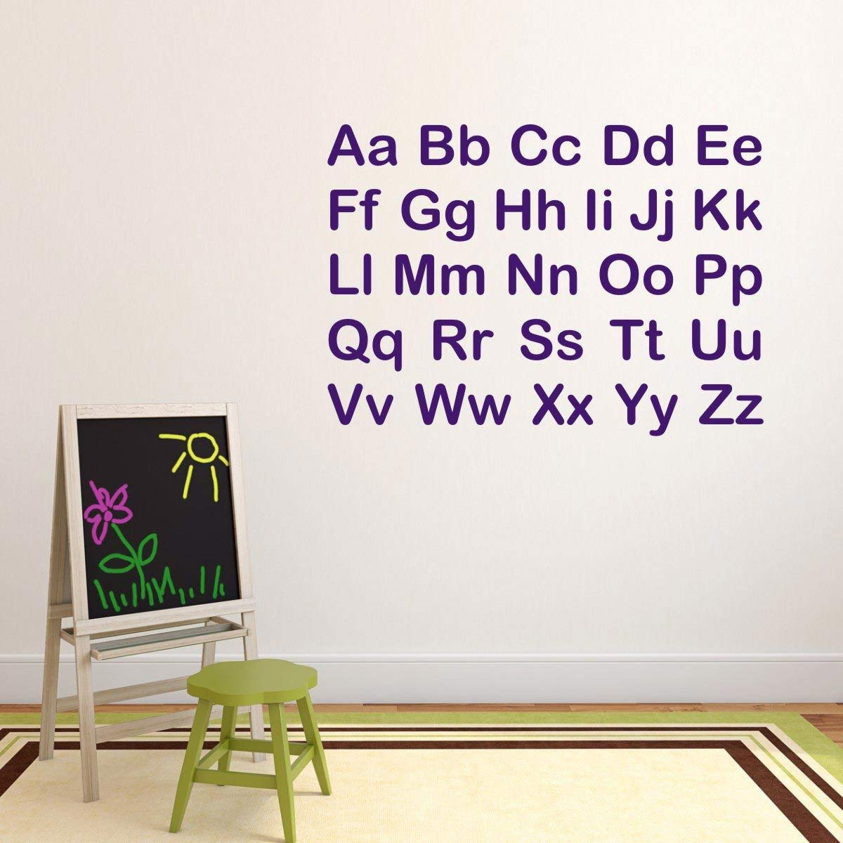 Amazon.com: Alphabet Letters Wall Stickers Alphabet Wall Decals ...