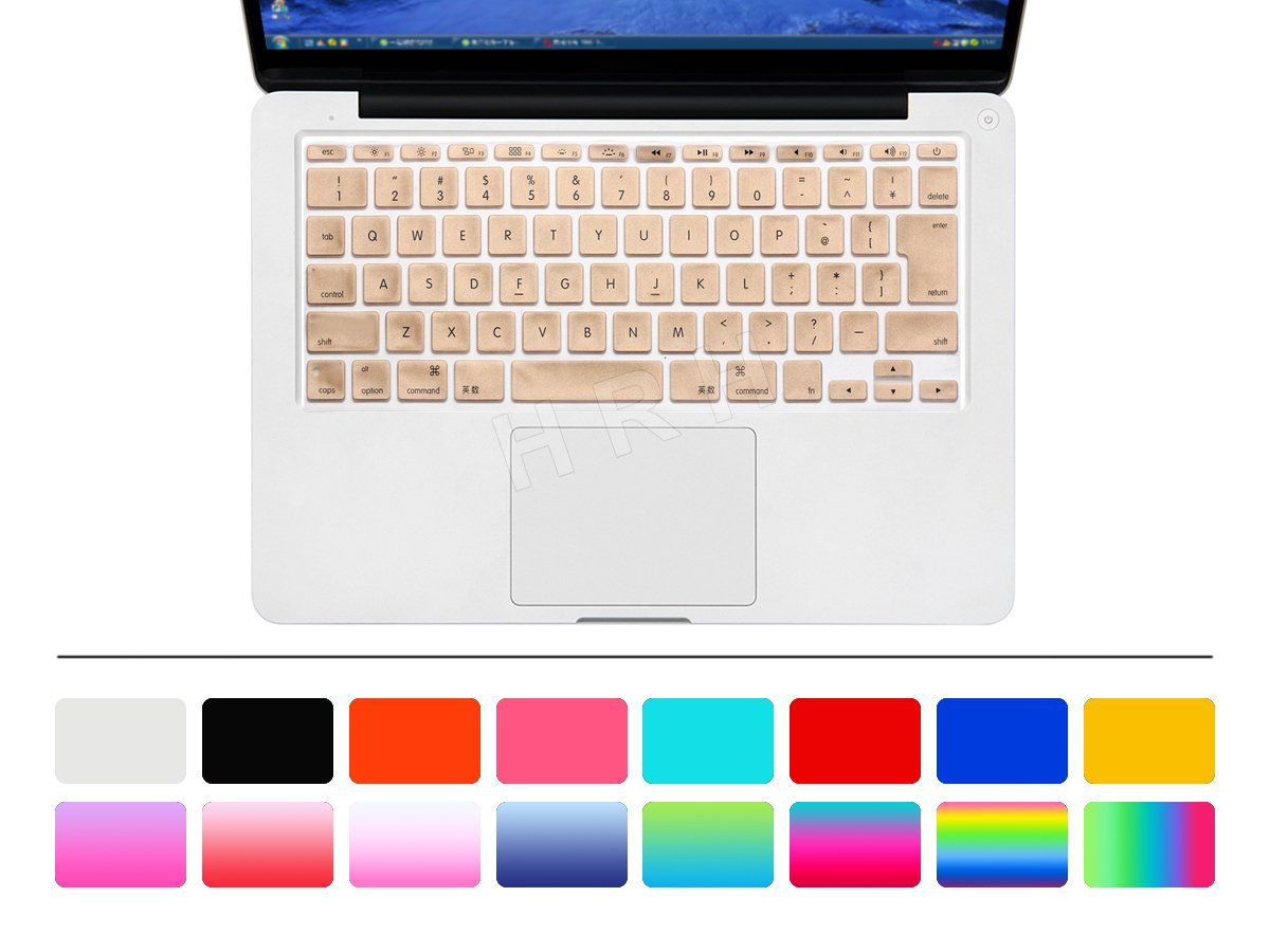 HRH English Silicone Keyboard Cover Skin Protective film for Apple Mac MacBook Air 11.6 Inch 11' Japan Version Keyboard Layout -Silver