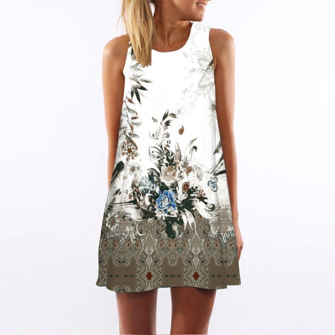 Amazoncom Women Mini Dress Franterd Floral Evening Party Dress