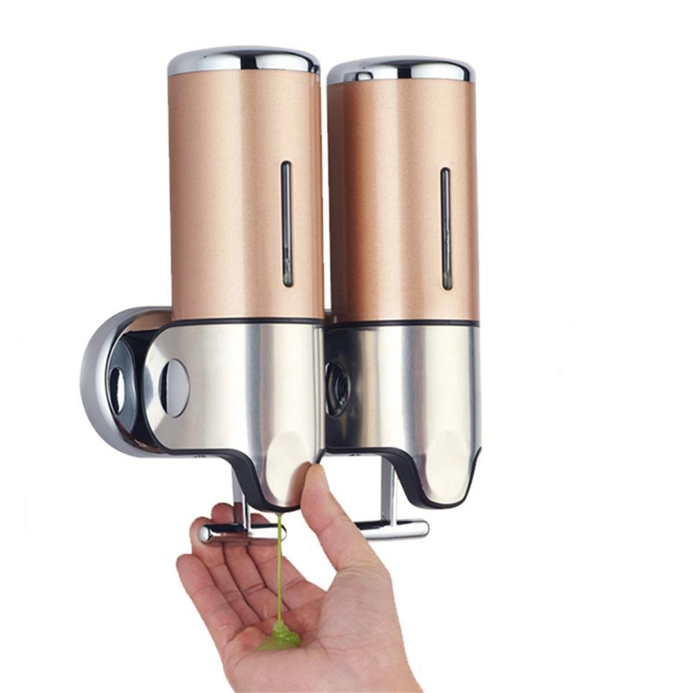 Dispensador de jabón desinfectante para las manos botella gel de ducha caja de jabón montado en la pared de acero inoxidable binocular baño del hotel Inicio ...