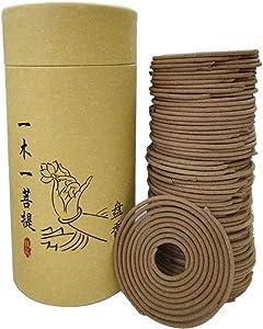 Taotenish 120pcs/box Spiral Incense Coils Buddhist Incense Natural Spiral Coil Incense - Sandalwood