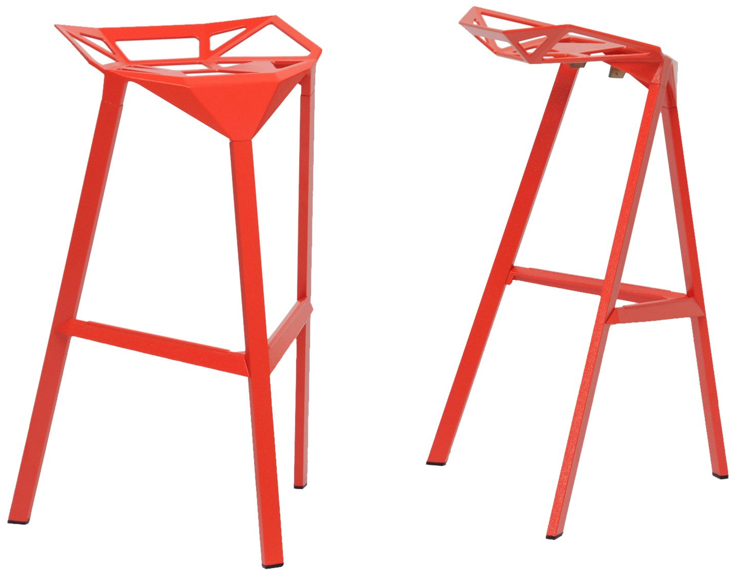 Amazon.com Baxton Studio Kaysa Aluminum Modern Bar Stool Red Set of 2 Kitchen u0026 Dining  sc 1 st  Amazon.com : red modern bar stools - islam-shia.org