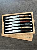 Laguiole en Aubrac Laguiole Steak Knives Set of 6, Mixed Woods