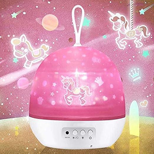 Luz de noche de niña, regalo de niña 2 3 4 5 6 7 8 años, el mejor regalo de Navidad, regalo de cumpleaños, regalo de vacaciones para niños niña de 1-9 ...