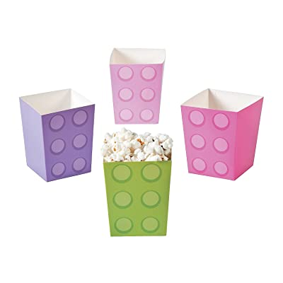 Pastel Color Brick Party Popcorn Boxes for Girls Birthday - Party Supplies - Containers & Boxes - Paper Boxes - Birthday - 24 Pieces: Toys & Games