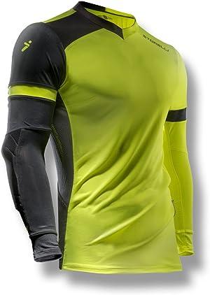 Storelli ExoShield Gladiator Goalkeeper Jersey | Padded Elbow Sleeves | Lightweight Soccer Jersey Shirt | Strike | Medium