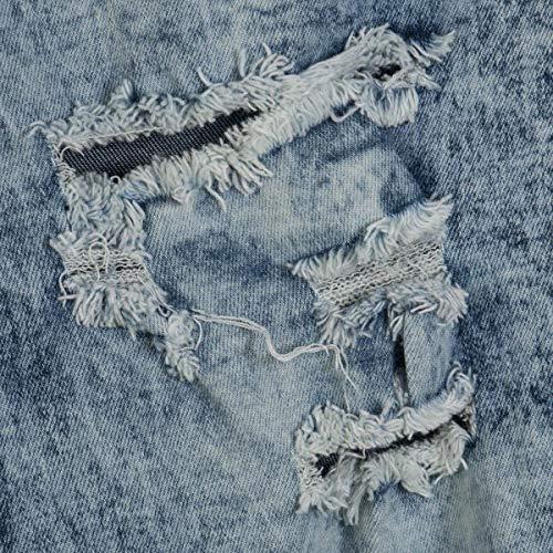 Con Para Hellblau pantalones Alta Vaqueros Color Cintura Pantalones Pants Rotos sólido Mujer Betrothales Multi Trousers Bolsillo Lápiz Desgastados qEwUBnxqP