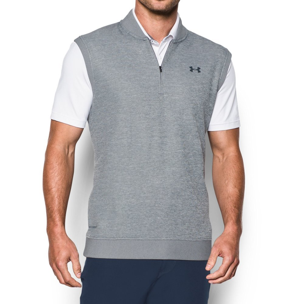 Under Armour Men's Storm SweaterFleece Vest, True Gray Heather/True Gray Heather, Medium by Under Armour