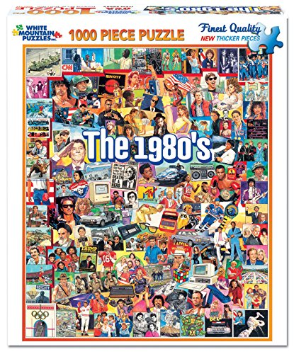 Puzzle Adult (White Mountain Puzzles The Eighties - 1000 Piece Jigsaw Puzzle)