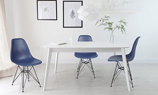 GIA Navy Blue Armless Home Office/Side Dining Chair Set of 2
