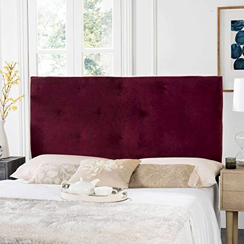 Safavieh Martin Bordeaux Cotton Upholstered Tufted Headboard Queen