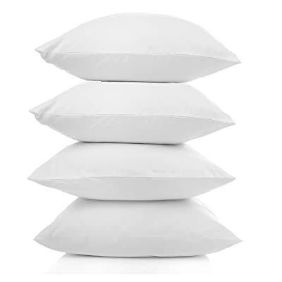 Pal Fabric Outdoor Anti-Mold Waterproof Square Sham Pillow Insert Made in USA (Set of 4-18x18): Home & Kitchen