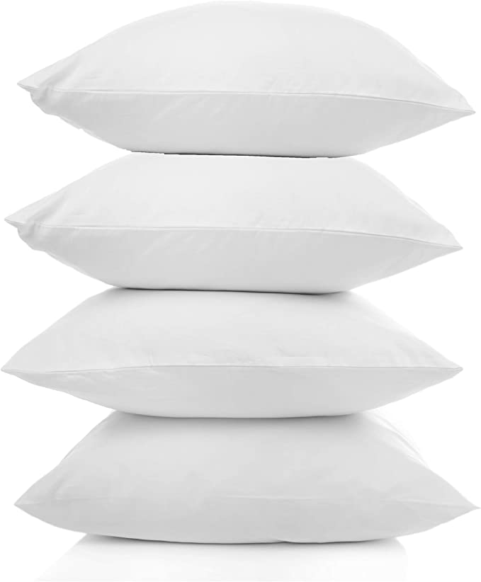 Outdoor Waterproof Square Sham Pillow Insert Made In Usa Set Of 4 20x20 Kitchen Dining Amazon Com
