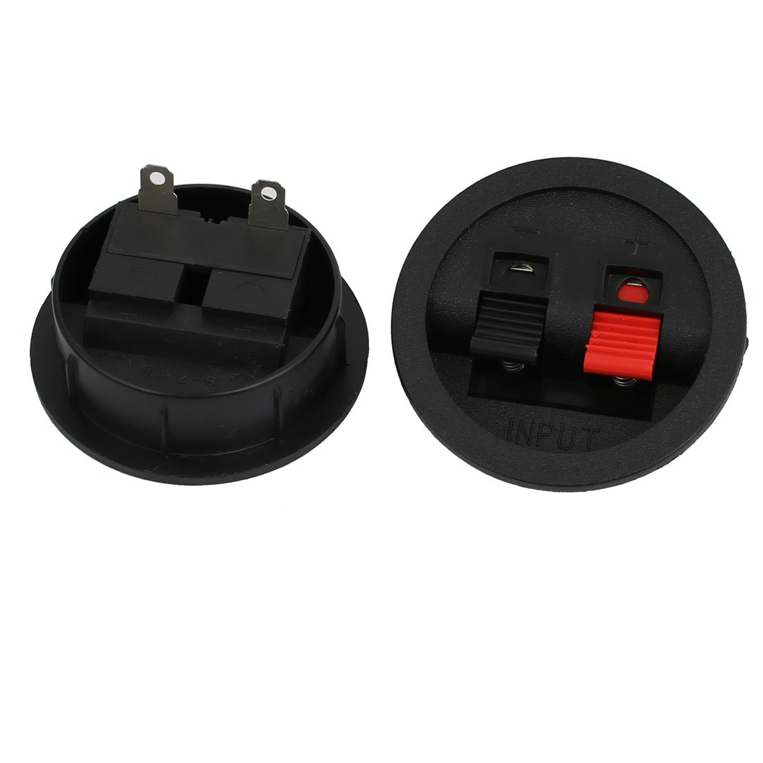 uxcell 2PCS Binding Spring Post Push Type Square Speaker Box Terminal Cup a13111100ux0060