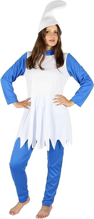 Foxxeo Disfraz de enana Azul para el Carnaval de Damas Carnaval de ...