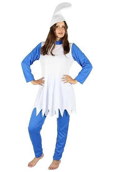 Foxxeo Fo40364 Blaue Zwergin Kostum Fur Damen Karneval Fasching