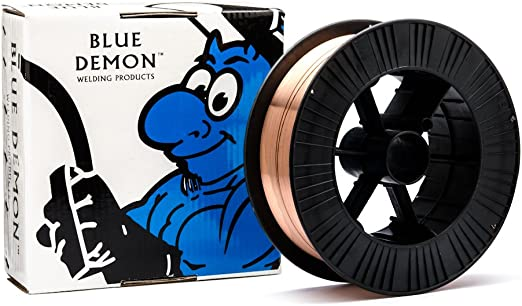 "0.035/"" x 33 lb Spool Blue Demon ER70S6 Carbon Steel Welding Wire"