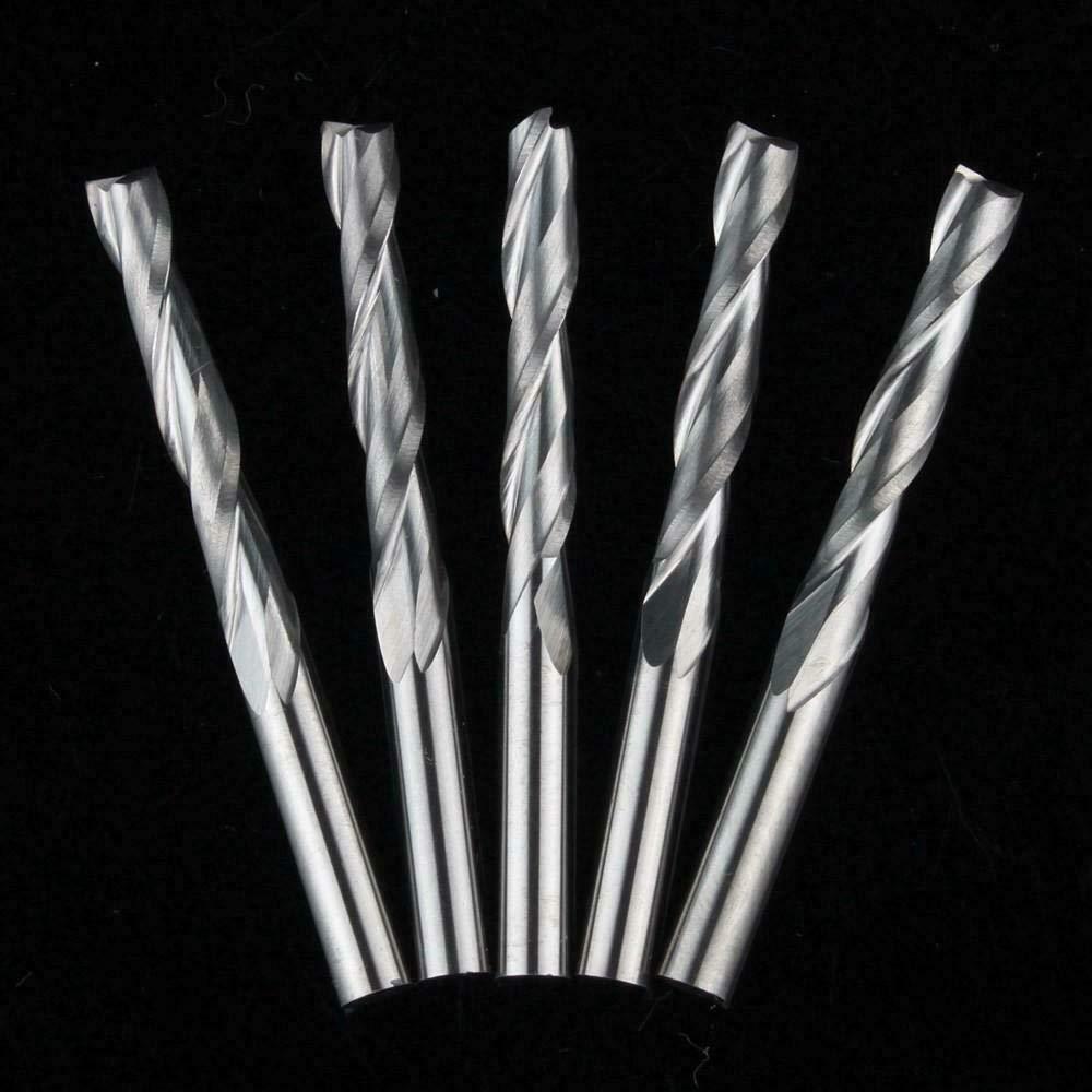 EU/_HOZLY SHK Lot de 5 coupe-spirale en carbure de carbone 4 mm CED 4 mm 5PCS 4X4X12mm