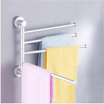 Toalla de baño o cocina Bar titular de Rack de almacenamiento de montaje en pared,organizar todo el estante con toallas y toallas,Espacio toallero aluminio: ...