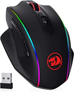 Redragon M686 Wireless Gaming Mouse, 16000 DPI Wired/Wireless Gamer Mouse with Professional Sensor, 45-Hour Durable Power Capacity, Customizable Macro and RGB Backlight for PC/Mac/Laptop