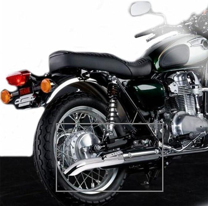 Jfg Racing Universeller Motorrad Auspuff Schalldämpfer Für Harley Cafe Racer Bobber Custom Triumph Custom Usw Slash Cut Schwarz Auto