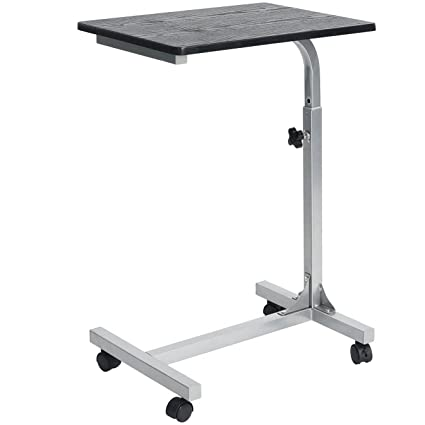 Coavas Overbed Table Medical Adjustable Portable Notebook Desk Sofa Side  Table For Studying Reading Breakfast Table