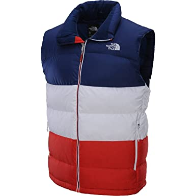 7557356ab4 Amazon.com: The North Face Men's International Nuptse Vest France/Estate  Blue/TNF White/Majestic Red XL: Clothing