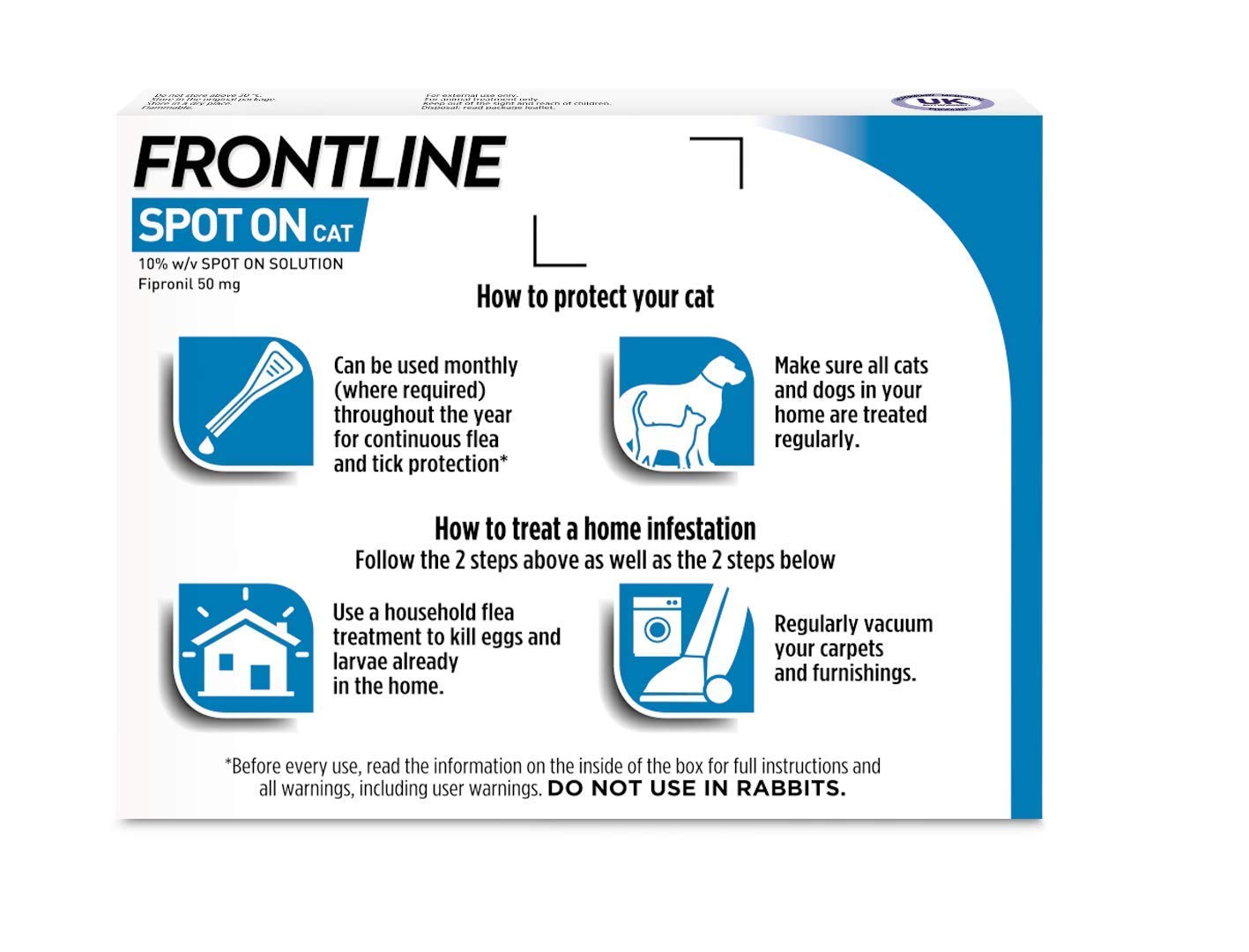 5b70276a36f6 FRONTLINE Spot On Flea   Tick Treatment for Cats 6 Pipettes  Amazon.co.uk   Pet Supplies