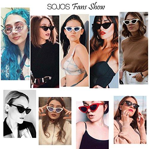 SOJOS Marco SJ2044 Gato Ojo Gafas Espejo C12 Eye De Moda De Transparente Lente Sol Plateado Chic Cat Mujer Super r7qrS6