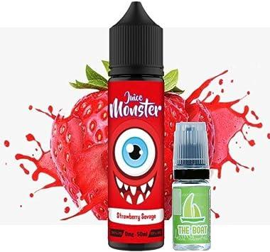 E Liquid Juice Monster Strawberry Savage 50ml - 70vg 30pg - booster shortfill + E Liquid The Boat 10 ml lima limón - Pack de 2 unidades para cigarrillo electrónico.: Amazon.es: Salud y cuidado personal