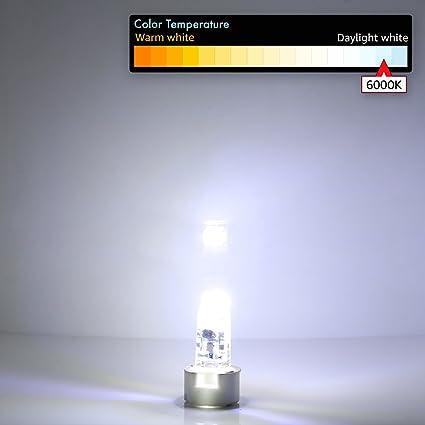 JAUHOFOGEI 10x 1W Mini Bombilla lámpara LED COB G4, 12V AC/DC, Equivalente