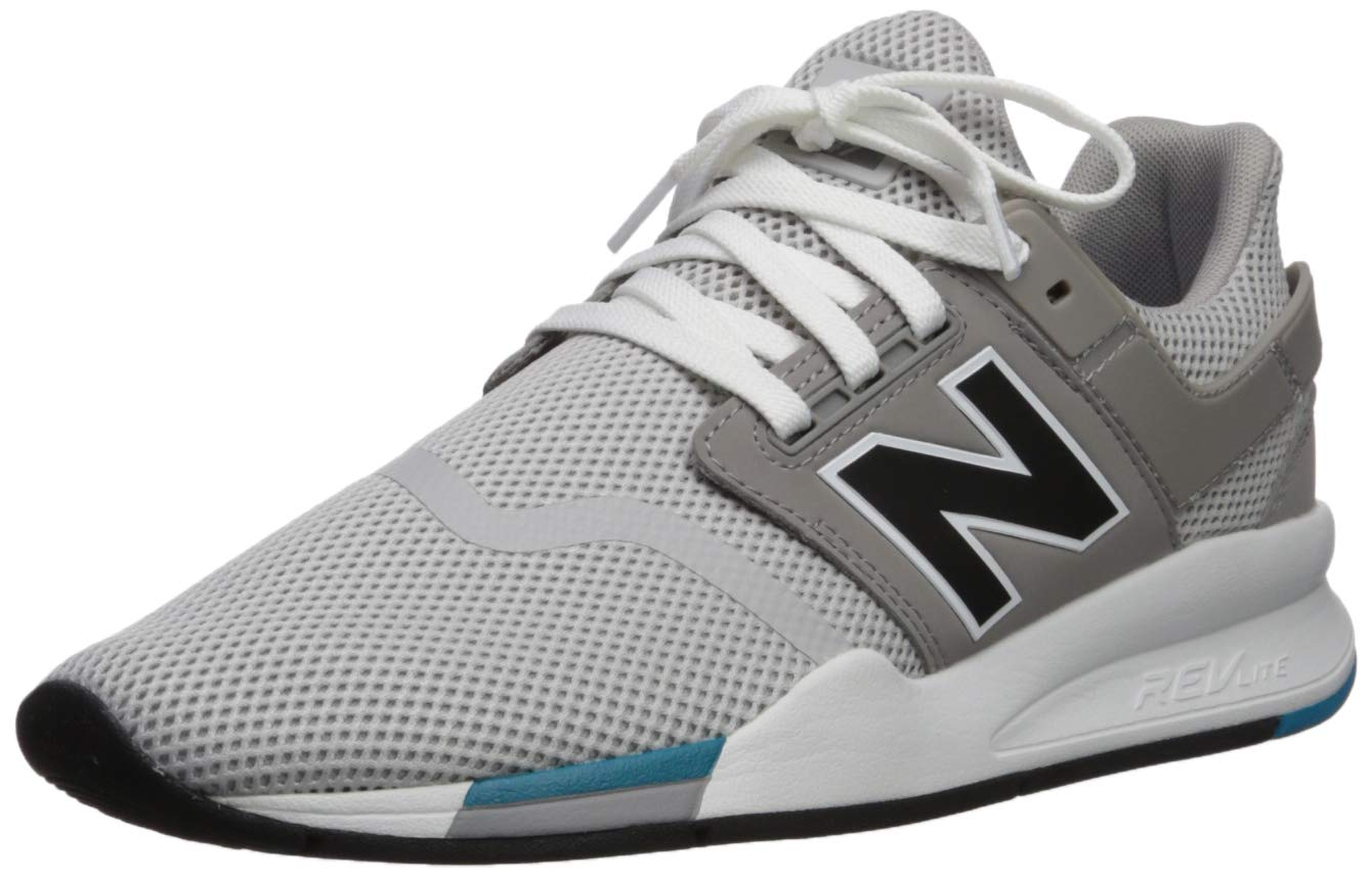 New Balance Men's 247v2 Sneaker, rain Cloud/Black, 13 D US