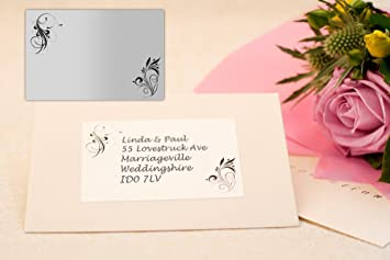 Festive Labels 40x Patterned Wedding Invitation Address Labels