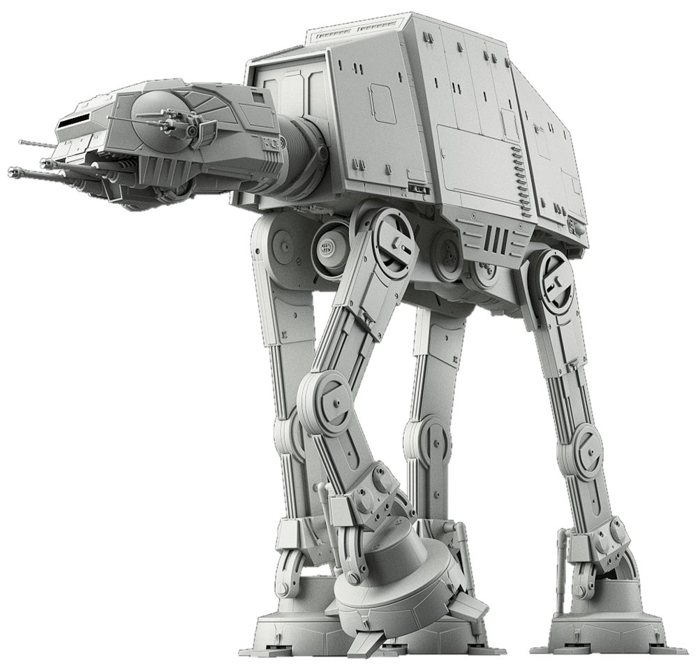 "Bandai Hobby Star Wars 1/144 at-at Walker Building Kit, Multi (BAN214476), 8"" 1"
