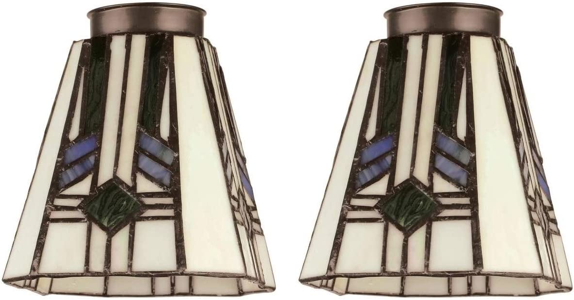 Westinghouse 8112100 2-1 4 Square Tiffany Lamp Shade Pack of 2