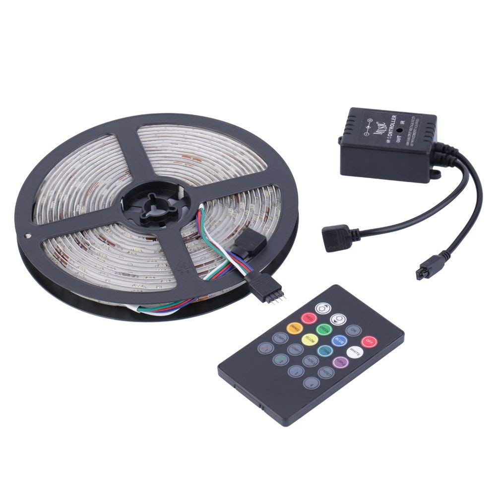 Waterproof 5050 SMD LED Strip Light 5M LED Strip Light with Remote Control(Color:RGB)