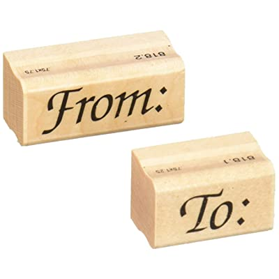 Stamps by Impression ST 0818 to from (2 pc. Set) Rubber Stamp: Arts, Crafts & Sewing