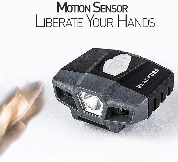 LED Cap Hat Visor Light Motion Sensor USB Rechargeable 1 Camping Headlamp x X9A7