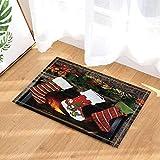 CdHBH Xmas Decor Christmas Socks on Fireplace Gift to Kids Bath Rugs Non-Slip Doormat Floor Entryways Indoor Front Door Mat Kids Bath Mat 15.7x23.6in Bathroom Accessories