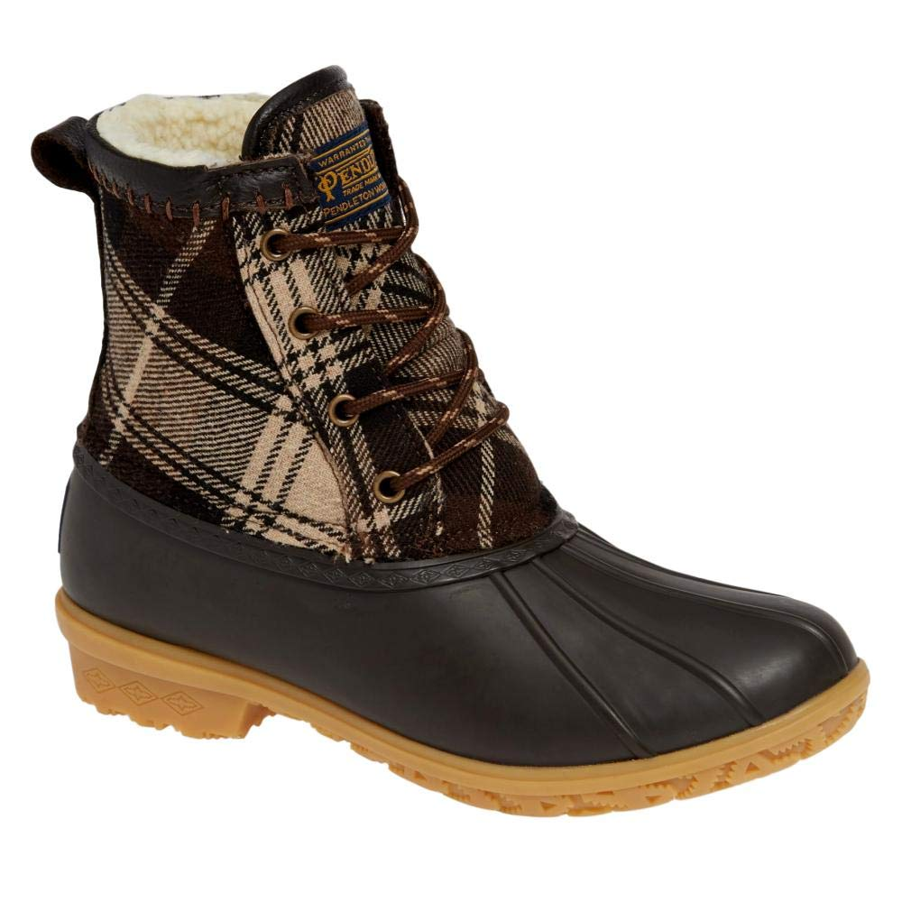 Brown Pendleton Heritage Plaid Duck Boot Size 9