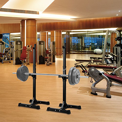 Power Rack Bench Press Safety: Ollieroo Barbell Rack 2PCS Gym Family Fitness Adjustable