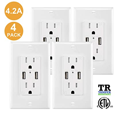 USB outlets, 6-pack